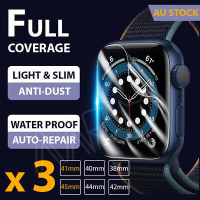 AU5.68 • Buy 【3 Packs】Apple Watch Screen Protector Thin 6/5/4/3/2/1/SE IWatch 38/42/40/44mm