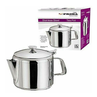 £5.99 • Buy Stainless Steel Metal Teapot Tea Coffee Cafe Kitchen Lid Pot Catering 24oz 750ml