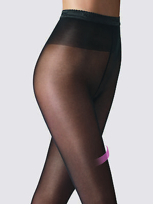 Wolford Womens Rosemary 40 Den Leg Support Sheer Invisible Tights Cotton Gusset • 16.90£