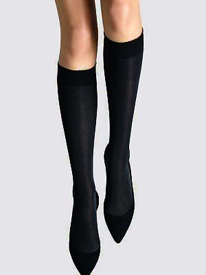 £10.40 • Buy Wolford Womens 50 Den Opaque Knee High Socks Everyday Wide Cuff