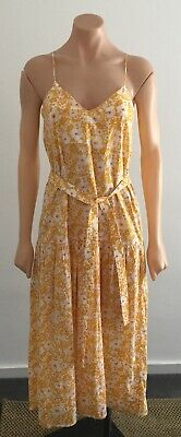 AU239 • Buy Scanlan & Theodore Yellow Floral Dress Size 6 Excellent Condition