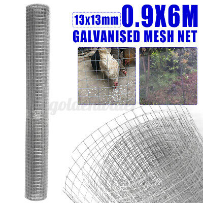 13mm Galvanised Chicken Wire Mesh Net Poultry Aviary Fence Garden DIY Farm Roll • 21.46£