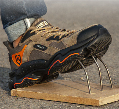 AU70.72 • Buy Mens Safety Shoes Steel Toe Cap Work Boots Lightweight Safety Trainers HIKING