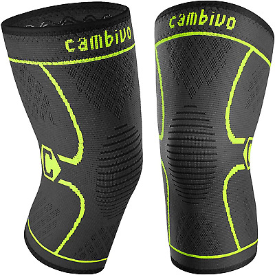 $20.62 • Buy Cambivo 2 Pack Knee Brace, Knee Compression Sleeve Support For Men And Women, Ru