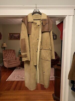 $950 • Buy Overland Sheepskin Taos Cowboy Ranch Horse Duster  MENS Size Large