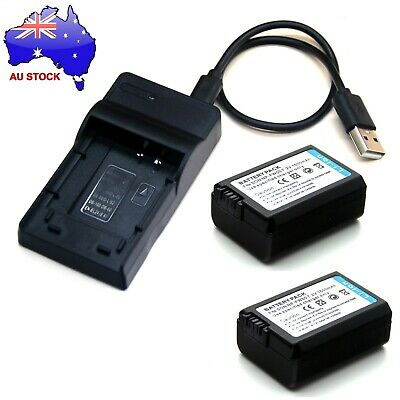 AU22.98 • Buy Battery / USB Charger For Sony Alpha A3000 A5000 A5100 A6000 A6100 A6300 A6400