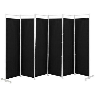 AU131.99 • Buy 6-Panel Folding Room Divider Privacy Screen Partition Steel Stand Home Office