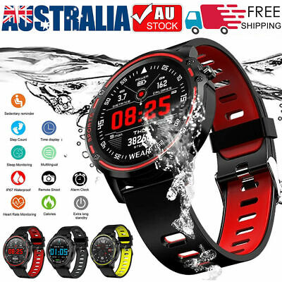 AU52.15 • Buy L8 Smart Watch Bluetooth Heart Rate Monitor Fitness Waterproof For Android IOS
