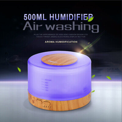 AU37.11 • Buy 500ml LED Ultrasonic Humidifier Essential Oil Diffuser Aromatherapy For Home New