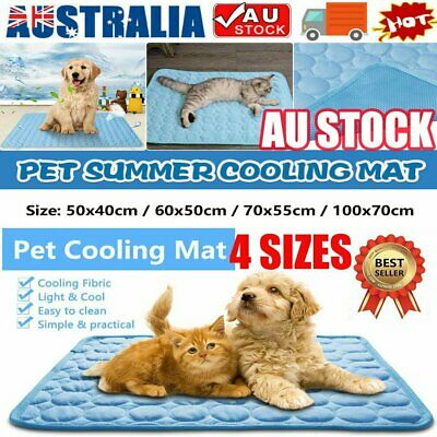 AU21.50 • Buy Pet Cooling Mat Dog Cat Bed Non-Toxic Cooling Dog Summer Pad 4 Sizes FAST KC