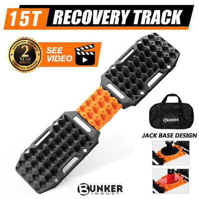 AU119.95 • Buy BUNKER INDUST Recovery Tracks Sand Track Black 15T 4WD Car Accessories