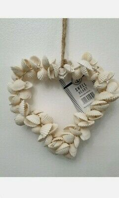 £9.99 • Buy 17cm White Hanging Sea Shell Heart For Indoor/Outdoor/ Decoration For House
