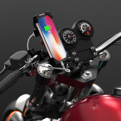 AU21.51 • Buy Motorcycle Mobile Phone Holder Electric Bike Motorbike X Clamp Mount USB Charge