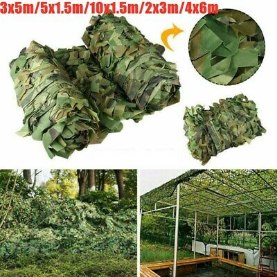 Army Camouflage Net Camo Netting Camping Shooting Hunting Hide Woodland Cover UK • 16.88£