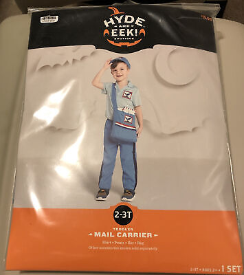 $22.99 • Buy NEW Hyde And EEK Boutique Mail Carrier Costume 2-3T For Kids- Fast Shipping
