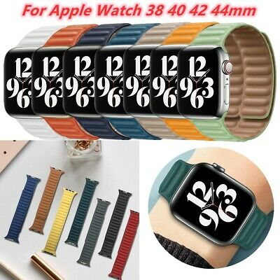 AU19.95 • Buy New Magnetic Loop Straps For Apple IWatch 6 5 3 4 2 1 38/40/42/44mm Leather Band