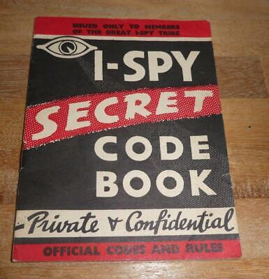 I Spy Secret Code Book Official Codes And Rules • 6£