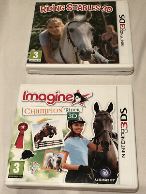 Imagine Champion Rider 3D Riding Stables 3DS, Nintendo 3DS Boxed Complete Rare • 103.99£