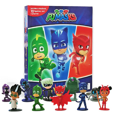 Juniors - Pj Masks My Busy Book - Playmat & 10 Figures - Fast & Free P&p • 11.79£