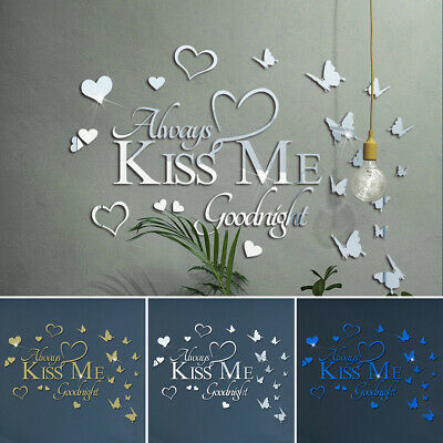 English Letters Dream Big Acrylic Mirror Stickers Self-Adhesive Decoration Gift • 9.97£