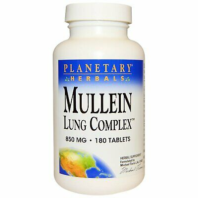 Planetary Herbals, Mullein Lung Complex 850 Mg, 180 Tablets • 14.88£