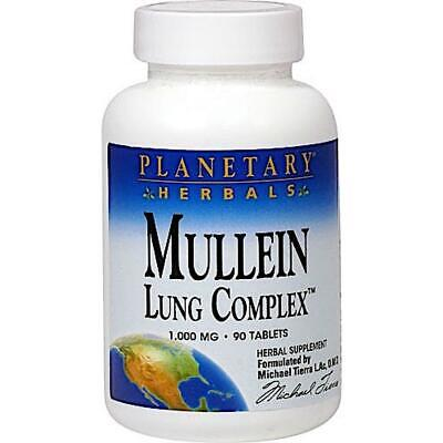 Planetary Herbals, Mullein Lung Complex™ 850 Mg, 90 Tablets • 7.93£