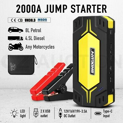 AU129.95 • Buy Car Jump Starter Lithium Battery Power Bank Vehicle Charger Booster 2000A