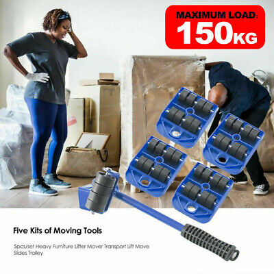 AU16.19 • Buy 5X Furniture Shifter Lifter Wheels Moving Kit Slider Mover Table Sofa Removal AU