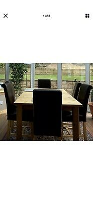 Dining Table And 6 Chairs Used • 100£