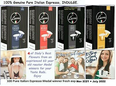 AU43.95 • Buy 120 X Nespresso Coffee Capsules Compatible Mixed Pods 4 Italian Roast Flavours