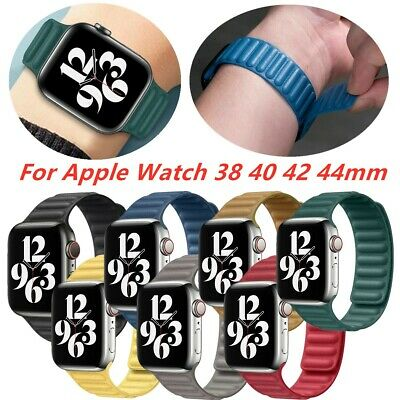 AU23.29 • Buy Milanese Loop Leather Band Bracelet For Apple IWatch SE 6-1 38mm 40mm 42mm 44mm