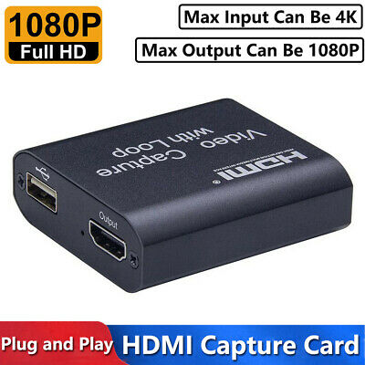 4K HDMI To USB 2.0 Video Capture Card 1080P HD Recorder For Game Live Streaming • 12.29£