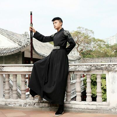 $ CDN59.83 • Buy Mens Chinese Ancient Hanfu Dress Traditional Classical Clothing Retro Adult Robe