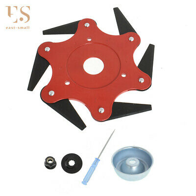 AU20.86 • Buy 6 Steel Razors Trimmer Head For String Trimmer (with Adaptor)