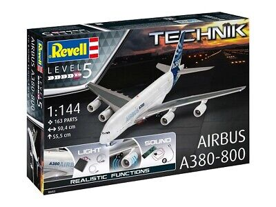 Revell Technology 00453 - 1/144 Airbus A380-800 - Light & Sound - New • 97.12£