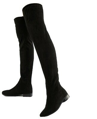 £11 • Buy London Rebel Flat Pull On Over The Knee Boots