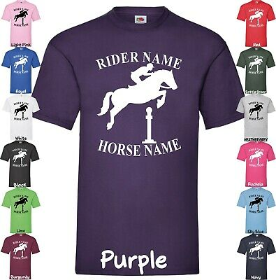 Personalised T-shirt Horse Show Jumping Equestrian Pony Equine Cob Dressage Tops • 9.24£