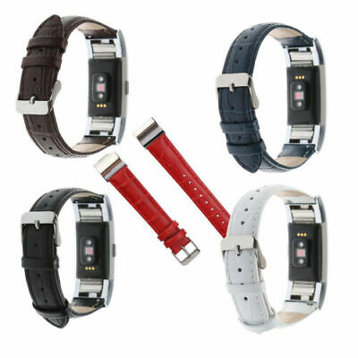 AU17.65 • Buy New Genuine Leather Smart Watch Band Bracelet Wrist Strap For Fitbit Charge 2