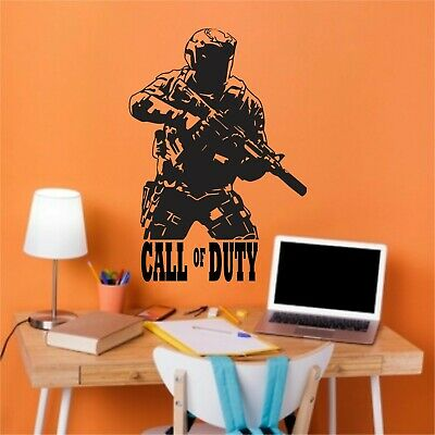 £12.99 • Buy Personalised Name Vinyl Wall Art Stickers Boys.Call Of Duty Any  Color
