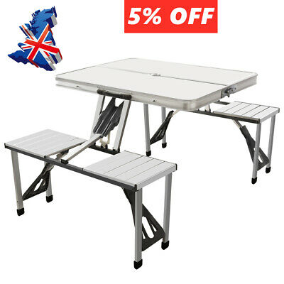 Portable Folding Picnic Table And Chairs Dining Camping Set Outdoor Furniture UK • 41.96£