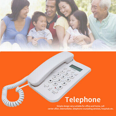 Landline Telephone Call Cordless English Home Office Wall Mount For Elderly • 12.07£