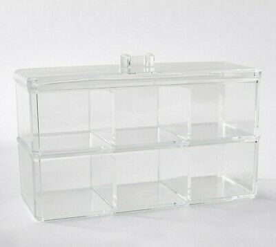 AU26.50 • Buy Tea Bags Acrylic 6-Cube Container Organiser Dispenser Caddy Rack Pantry Food Bin