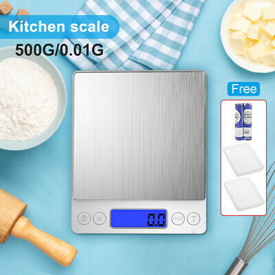 AU11.95 • Buy 500/0.01g Kitchen Digital Scale LCD Electronic Balance Food Weight Postal Scales