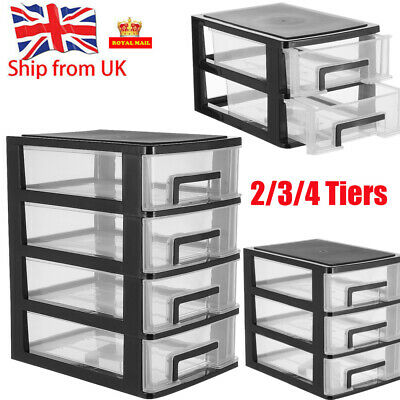 Plastic Storage Drawers Home Office Tower Unit Organizer Tidy Paper Rack • 14.29£