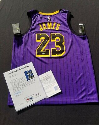 AU25132.27 • Buy LeBron James Signed Lakers City Edition Jersey UpperDeck PSA/DNA Authentic...
