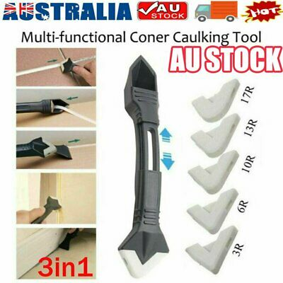 AU9.34 • Buy Silicone Caulking 3 In 1 Tool Removal Residue Scraper Kit Sealant Replace Set KC