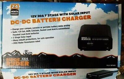 AU265 • Buy Ridge Ryder 12V 30A 7 Stage DC-DC Battery Charger With Solar Input AU Stock