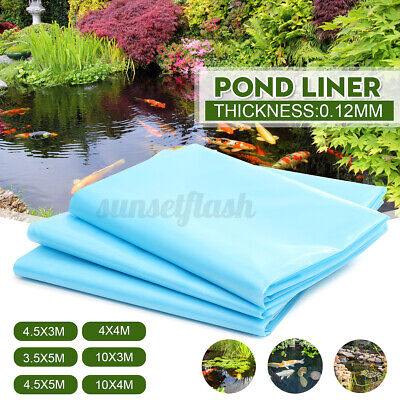 40 Year Guarantee Strong Fish Pond Liners Garden Pool Membrane Landscaping Blue • 35.95£