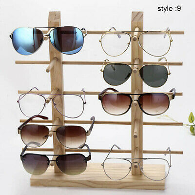 AU15.43 • Buy Wooden Sunglass Display Rack Shelf Wooden Durable Eyeglasses Show Stand Holder