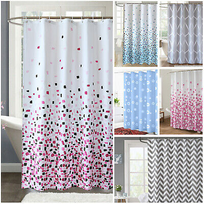 £8.99 • Buy Extra Long Shower Curtain Waterproof Polyester Fabric Bathroom Shower Curtains